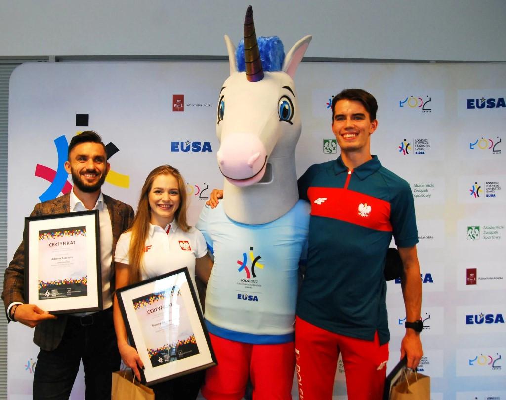 Kszczot, Tokyo 2020 gold medallist Duszyński and karateka Banaszczyk named Łódź 2022 ambassadors