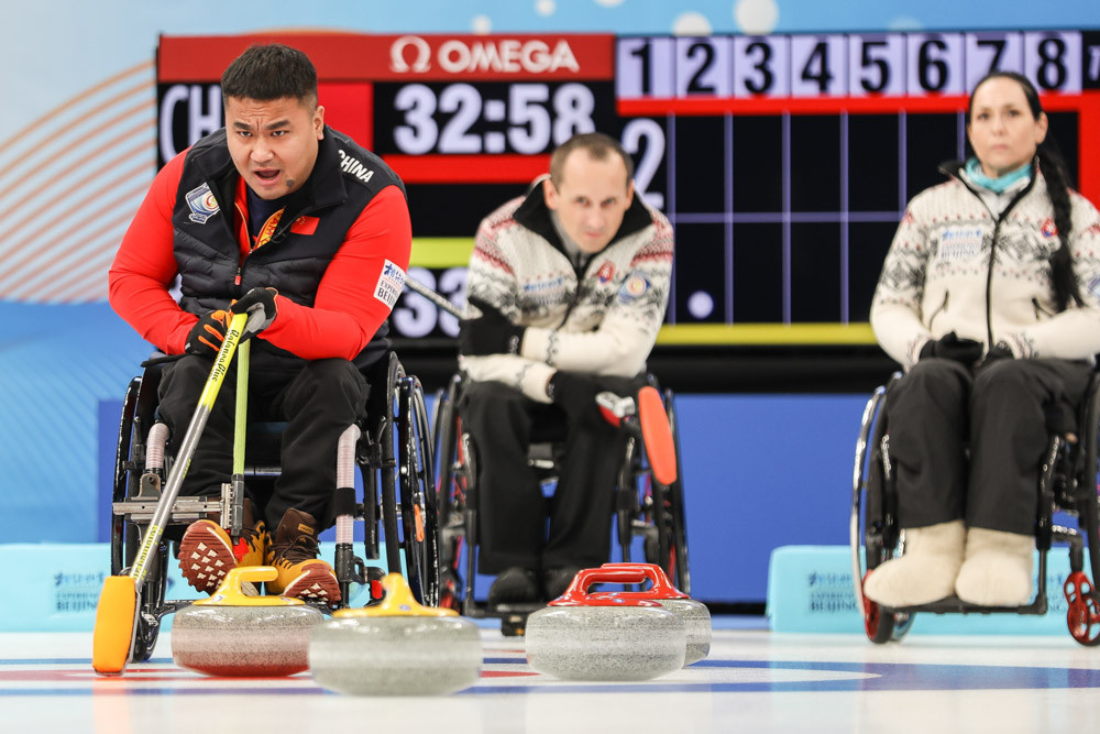 Hosts China win on opening day of World Wheelchair Curling Championship