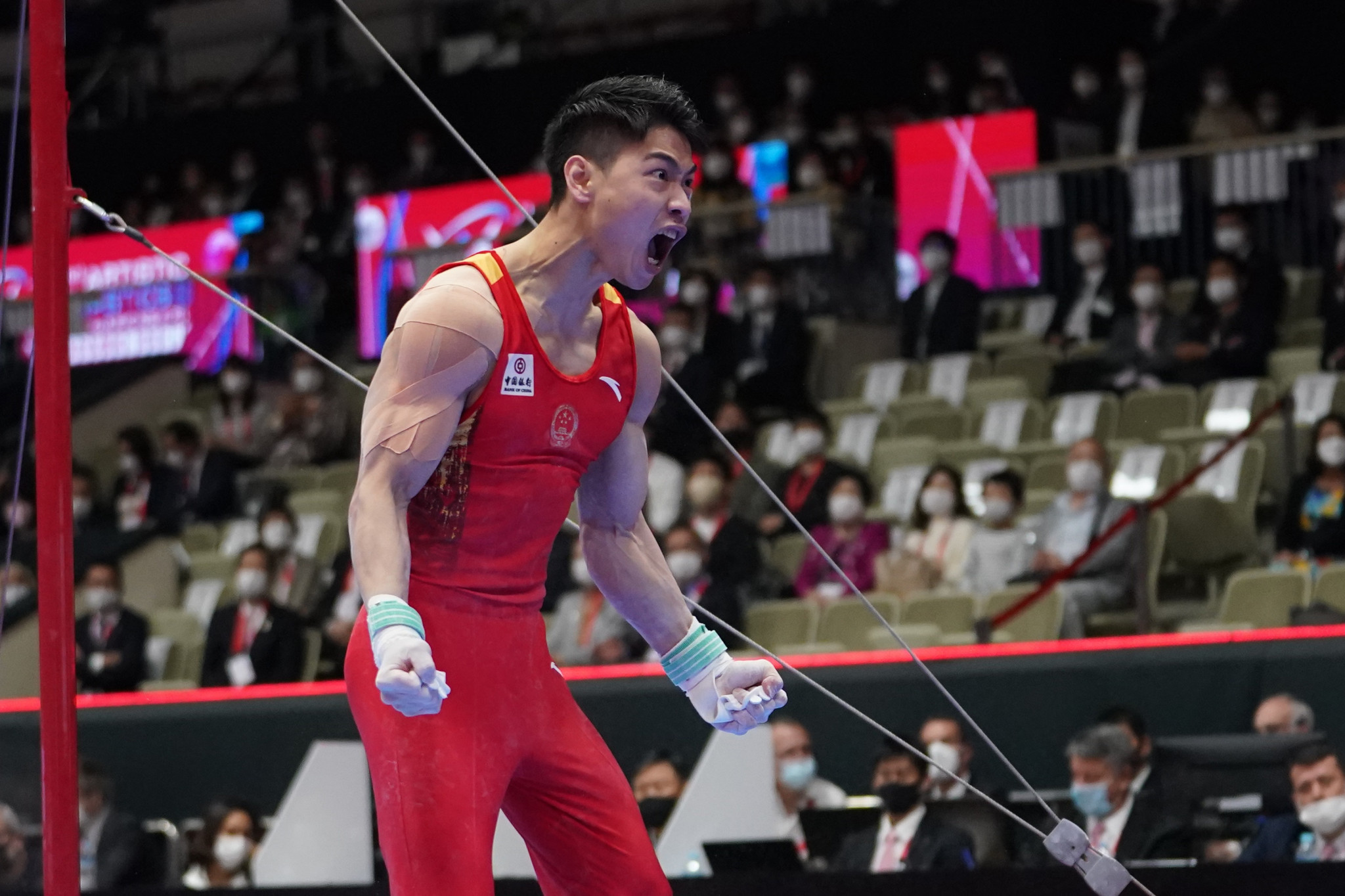 Hu wins two golds on final day of Artistic Gymnastics World Championships