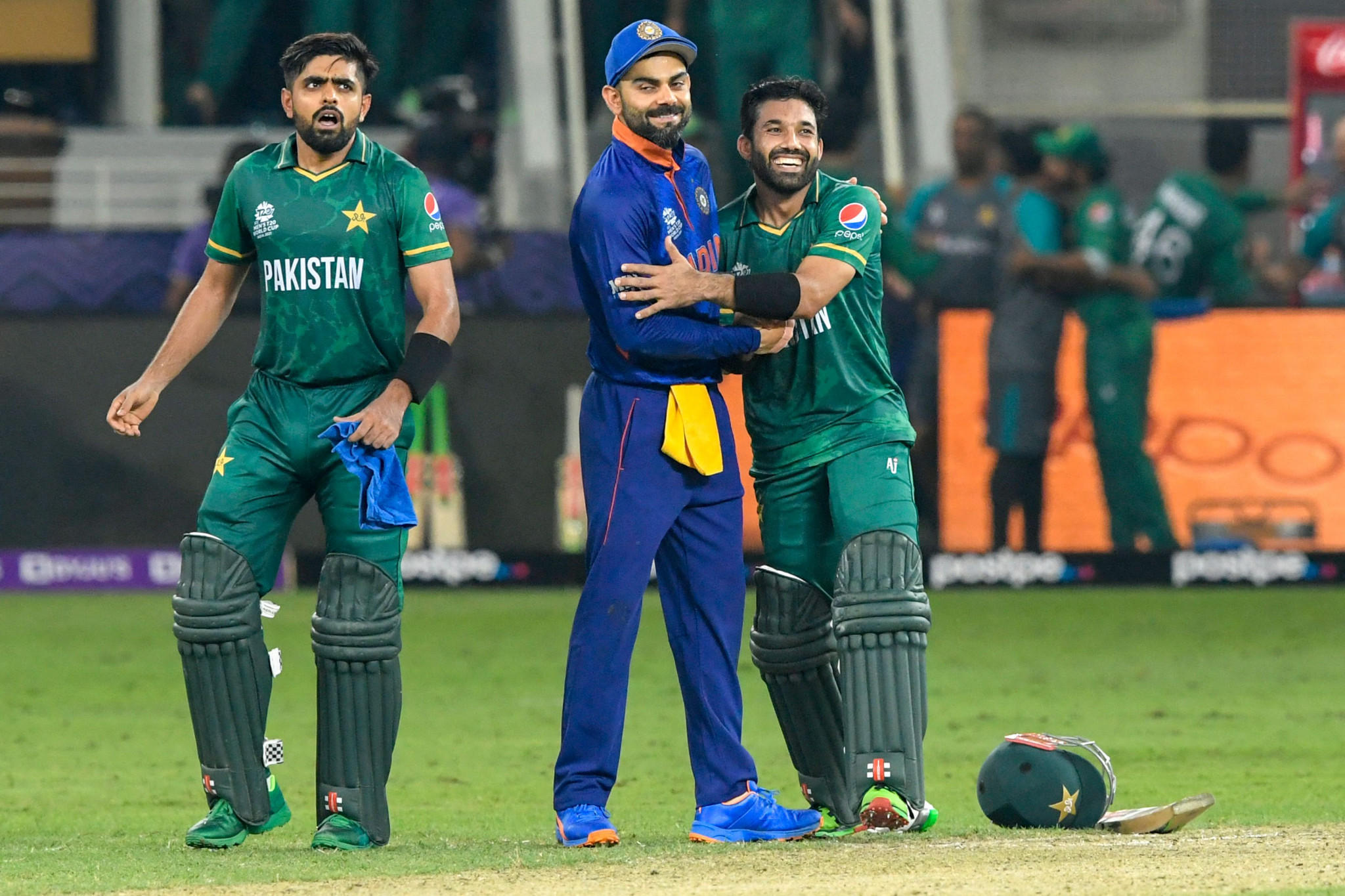 Pakistan claim famous win over arch rivals India at Men's T20 World Cup