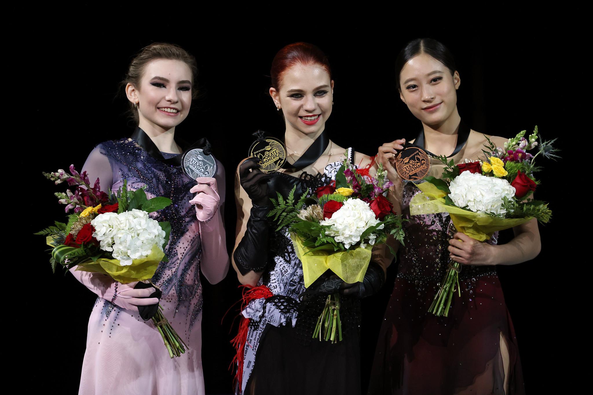 Trusova overcomes foot injury to clinch Skate America crown