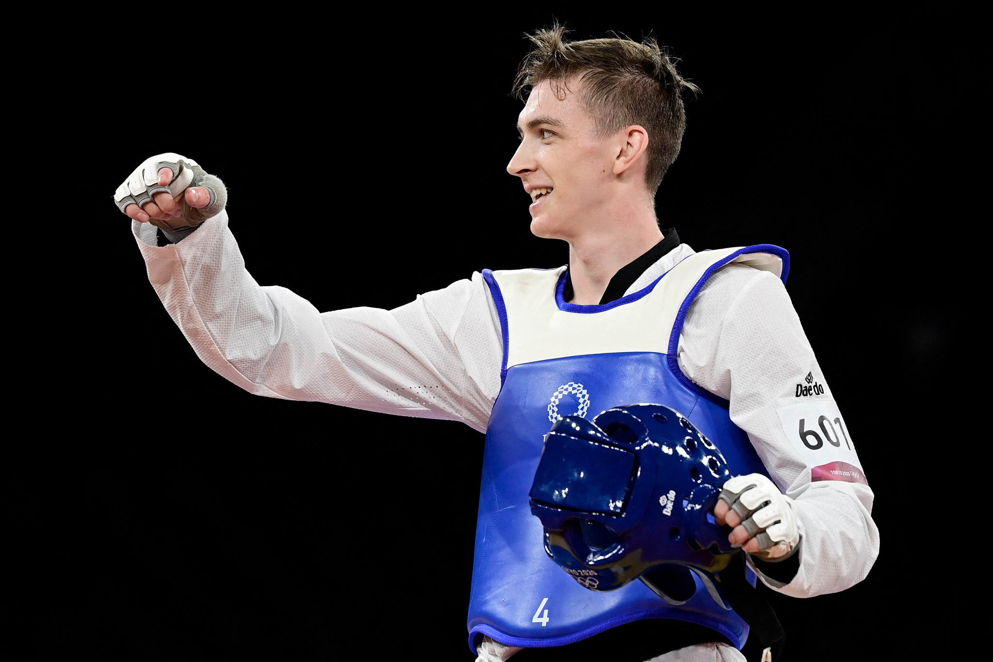 Maksim Khramtsov beat Jordan's Saleh El-Sharabaty to win Olympic gold at Tokyo 2020 ©Getty Images