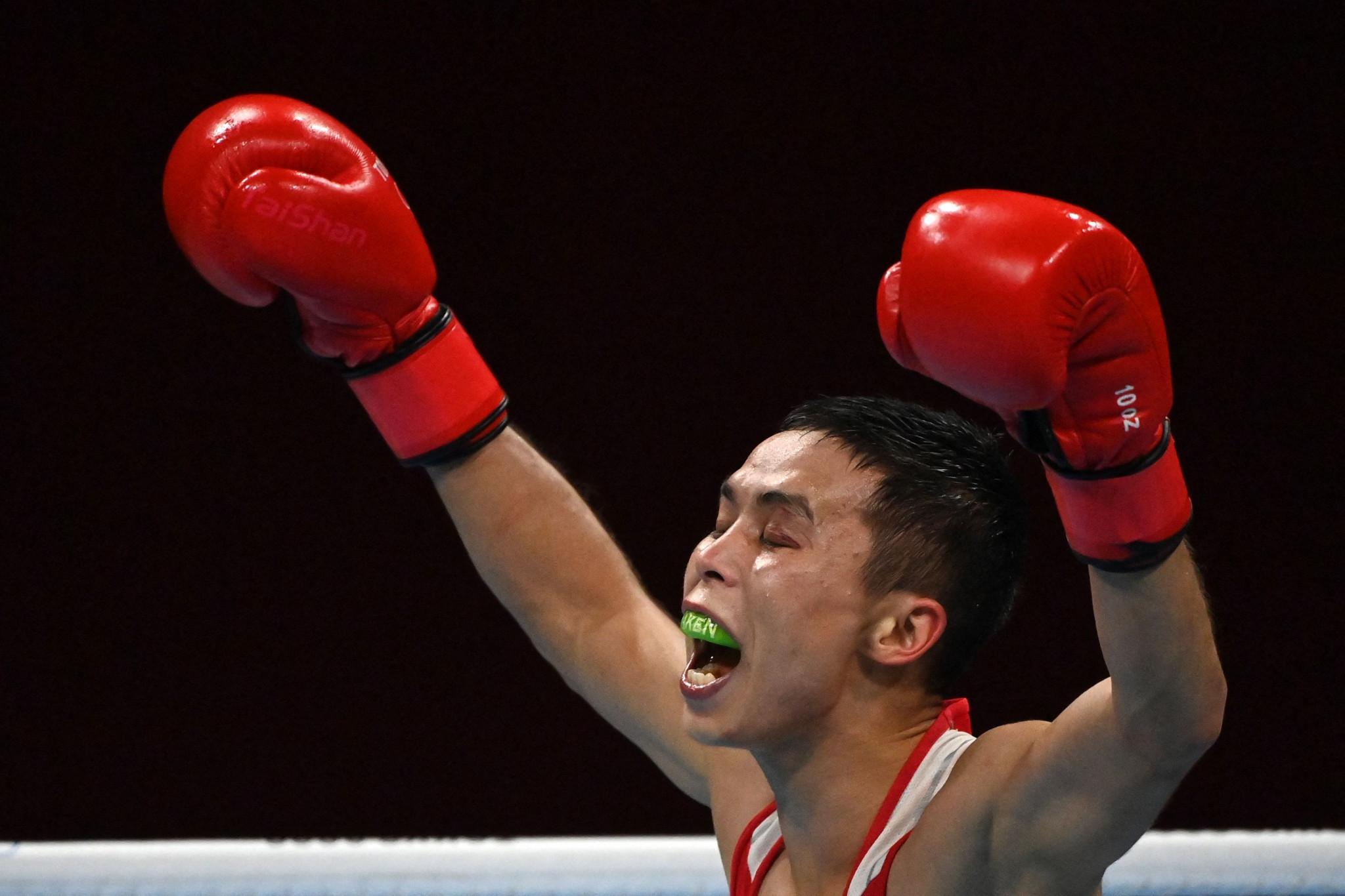 Bibossinov wins Central Asian battle at AIBA Men's World Boxing Championships