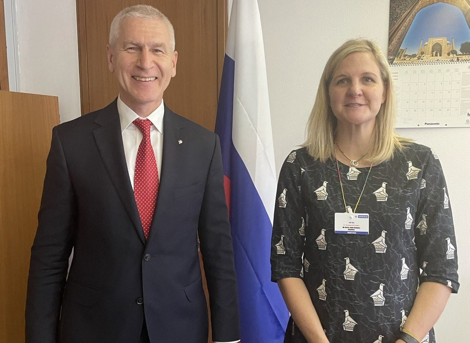 Oleg Matytsin meets with WADA President Witold Bańka and addresses UNESCO anti-doping conference