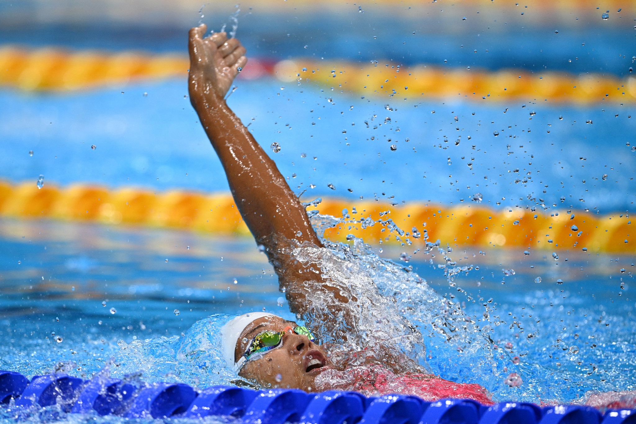 Felicity Passon is the leading swimmer for Seychelles heading towards Birmingham 2022 ©Getty Images
