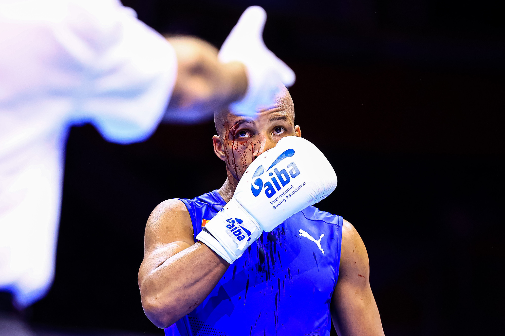 Cuba's Roniel Iglesias was knocked out in the first ound of the under-71kg ©AIBA