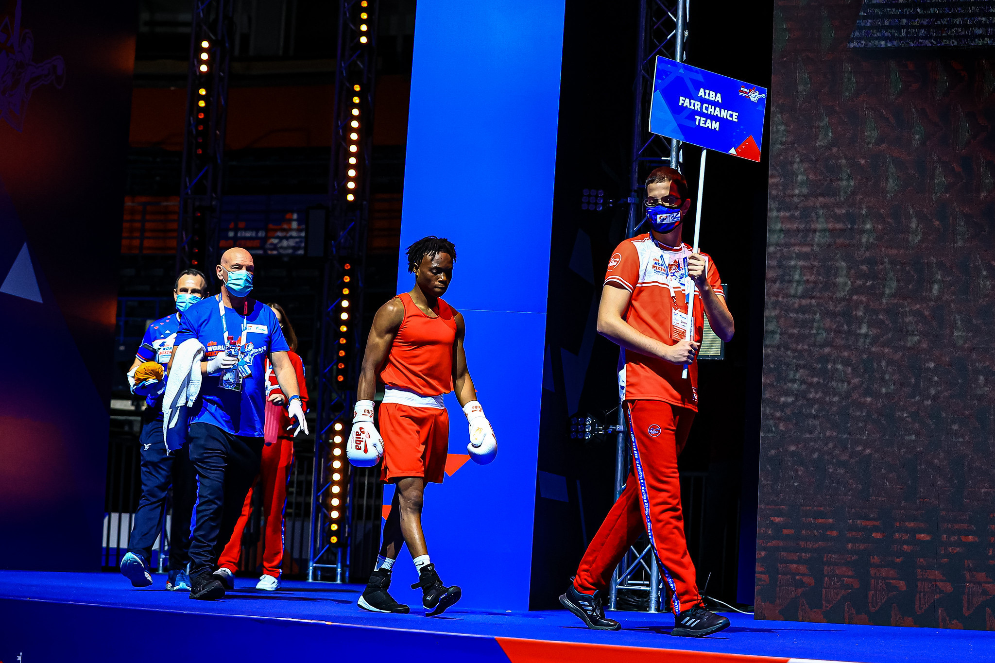 Abdule-Fawaz Aborode was the first refugee winner at the AIBA Men's World Boxing Championships ©AIBA