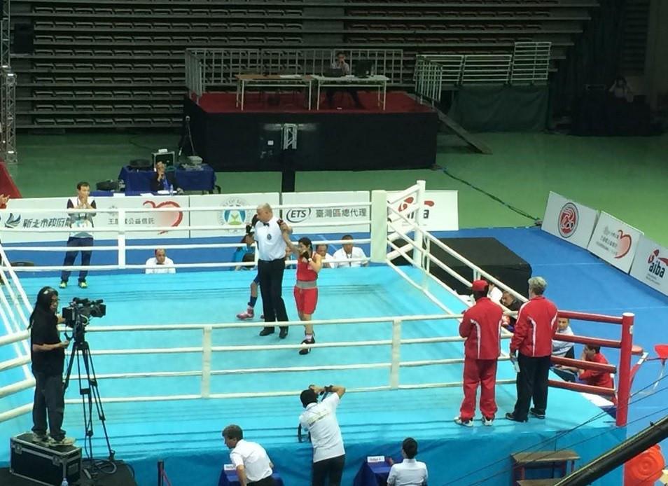 American star Heaven Garcia guaranteed at least a bronze by beating Nepal's Kusum Tamang