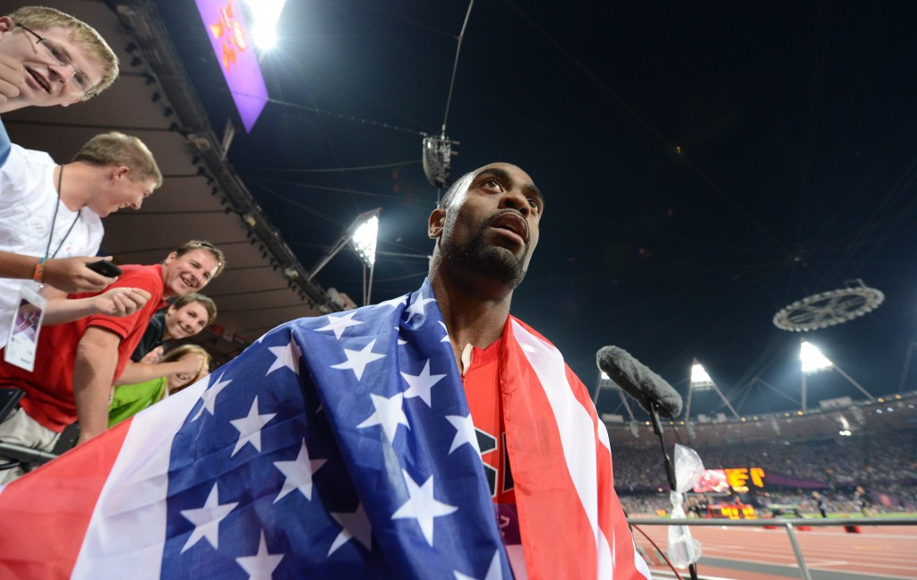 """Tyson Gay returned to competiton last July after his 24 month ban was halved after """"significant assistance"""" to USADA in outlining the background of his offence"""