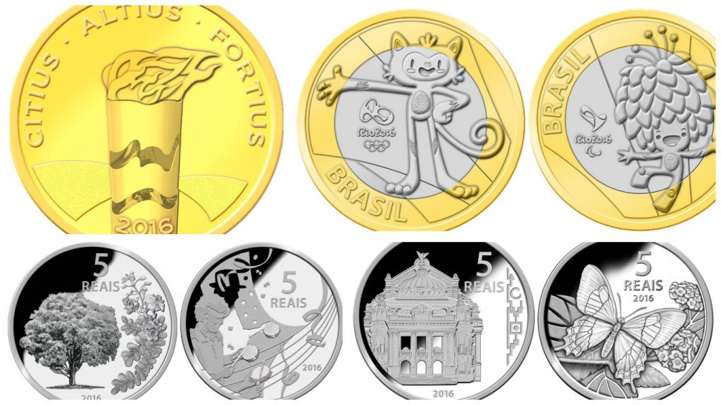 Commemorative coins from the Rio 2016 Summer Olympics ©Getty Images
