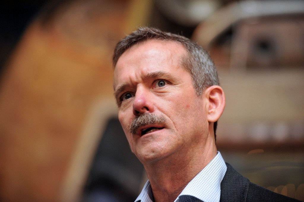 Astronaut Colonel Chris Hadfield will be a Torchbearer on the opening day of the relay