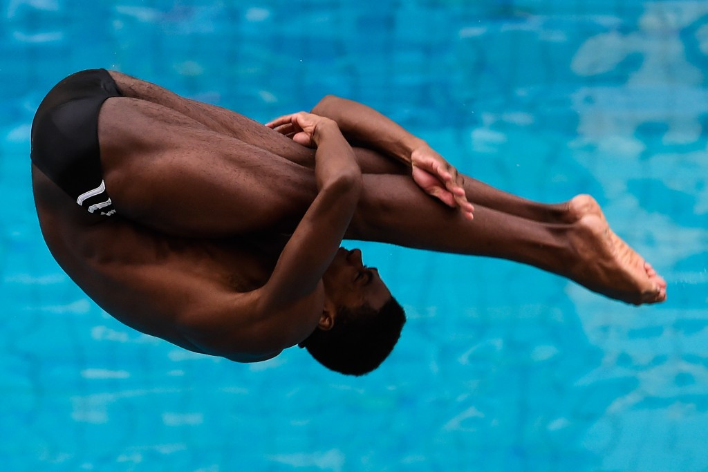 Yona Knight-Wisdom became the first Jamaican men's diver to qualify for the Olympics ©Getty Images