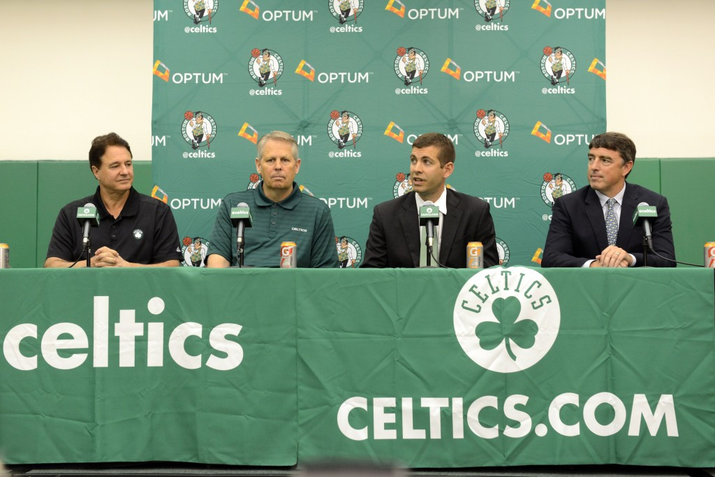 Steve Pagliuca (left), co-owner of the Boston Celtics, has been named Boston 2024 chairman ©Getty Images
