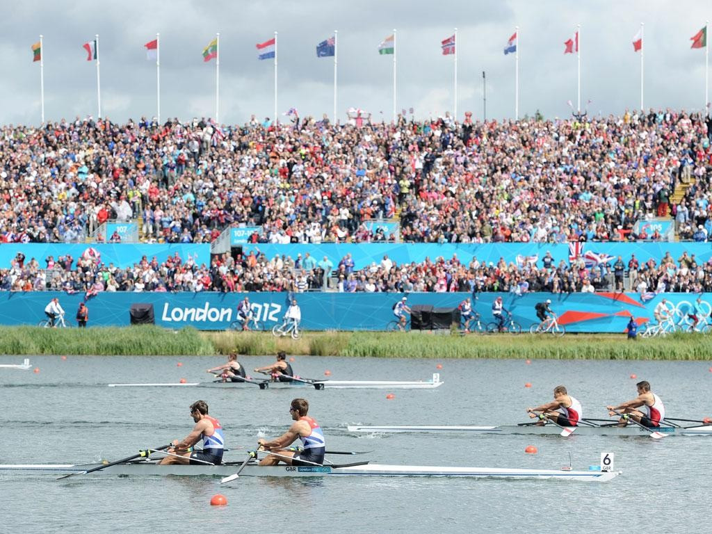 Every spectator at the rowing during London 2012 was assigned a specific seat - something that will not happen at Rio 2016 after Brazilian officials introduced a general admission policy ©Getty Images