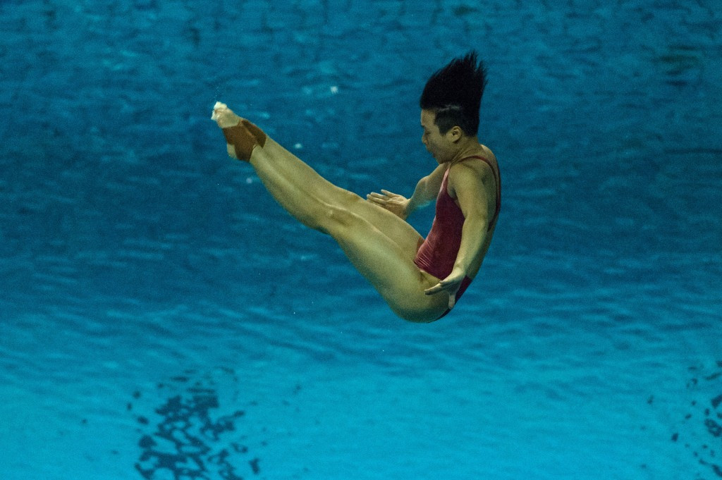 Shi Tingmao earned the women's 3m springboard gold in Rio ©Getty Images
