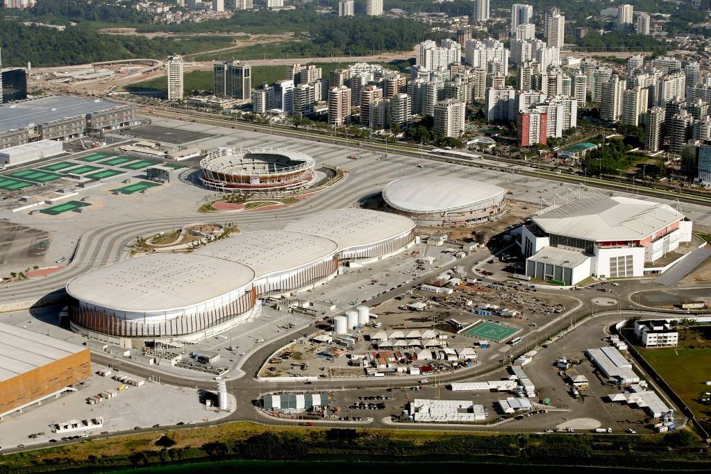 Construction of the Velodrome for Rio 2016 has lagged behind other venues in the Barra de Tijuca Olympic Park ©Getty Images