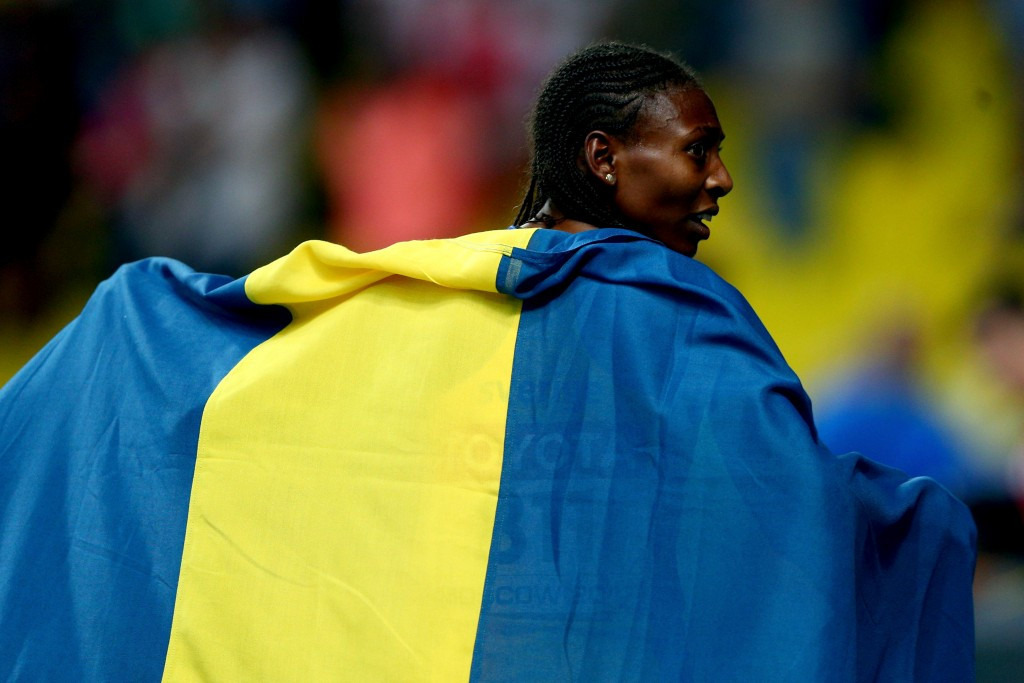 Sweden's naturalised Ethiopian athlete Abeba Aregawi, the 2013 world 1500m champion, has tested positive for a banned substance ©Getty Images