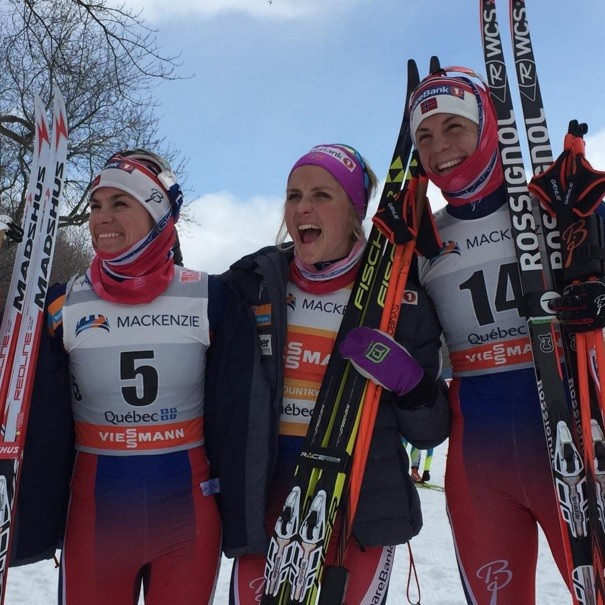 Therese Johaug claimed her 16th victory of the season as she led home a Norwegian clean sweep in the women's mass start classic ©FIS/Instagram
