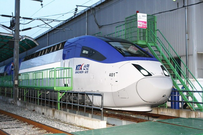 The new bullet train that will be used during the 2018 Winter Olympics and Paralympics has been unveiled ©Hyundai Rotem
