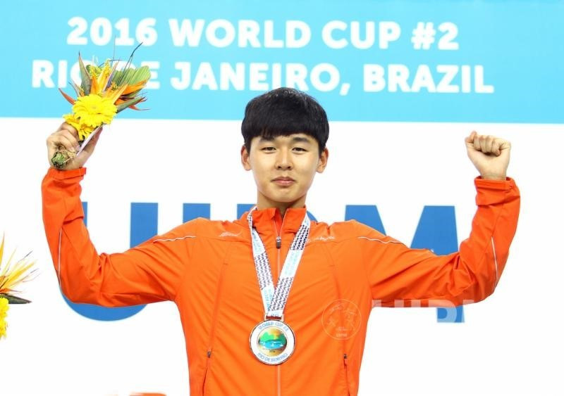 South Korea's Jun Woong-tae continued his rise towards the top of the world rankings as he claimed victory in the men's individual event in Rio ©UIPM