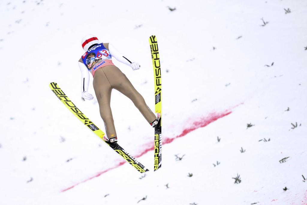 Robert Kranjec registered the longest jump of the day