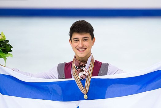 Samohin claims historic gold medal for Israel at World Junior Figure Skating Championships
