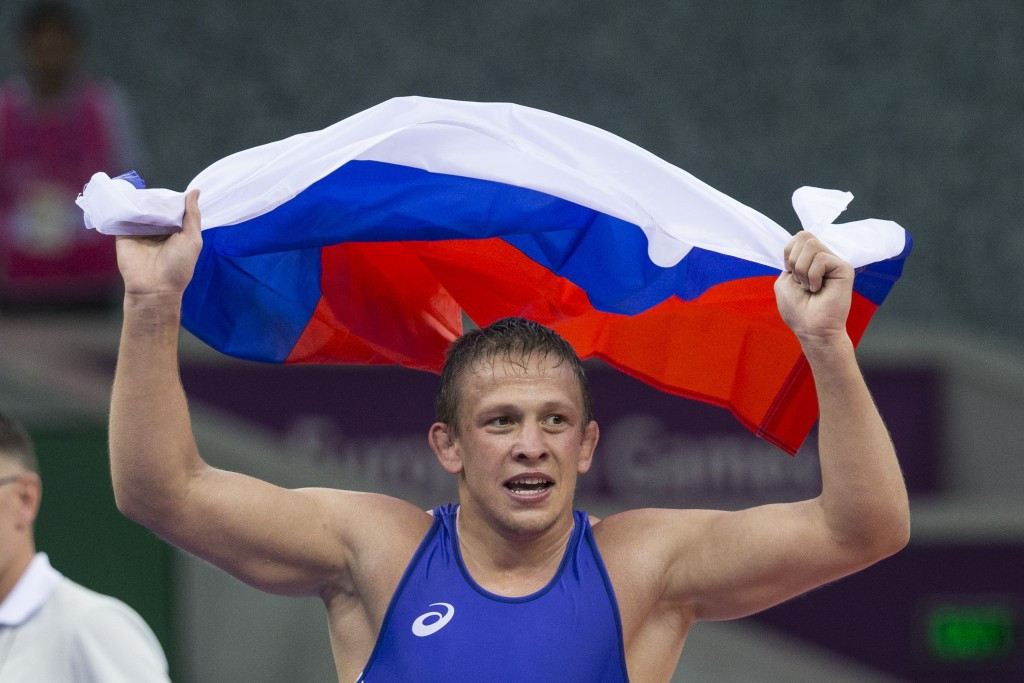 European Games wrestling gold medallist Evgeny Saleev is one of five athletes to have reportedly failed tests ©Getty Images
