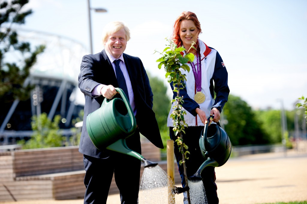 """London Mayor plants final """"Paralympic inspired tree"""" in new Olympic Park orchard"""