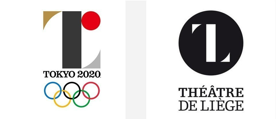 The initial Tokyo 2020 logo, which was scrapped after a plagiarism row involving Liege Theatre