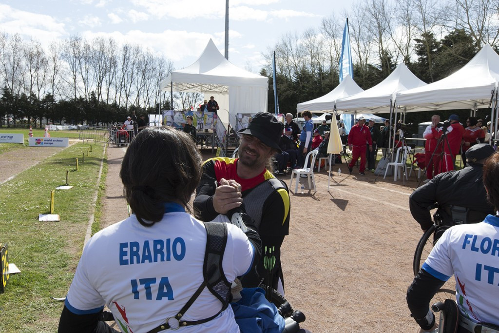 Alessandro Erario of Italy helped seal a quota place for his country at this year's Paralympic Games in Rio de Janeiro with a second place finish in the men's recurve event ©Archery Europe