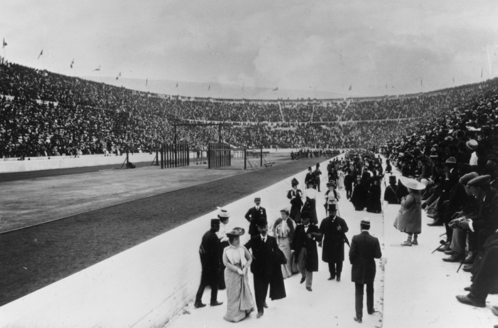 The 1896 Panathenaic Olympic stadium, where Edwin Flack won the 800 and 1500m titles ©Getty Images