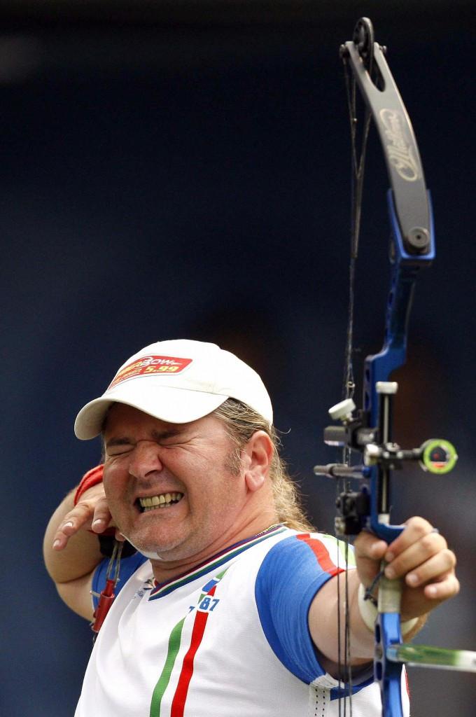 Italy's Alberto Simonelli will contest the men's compound final