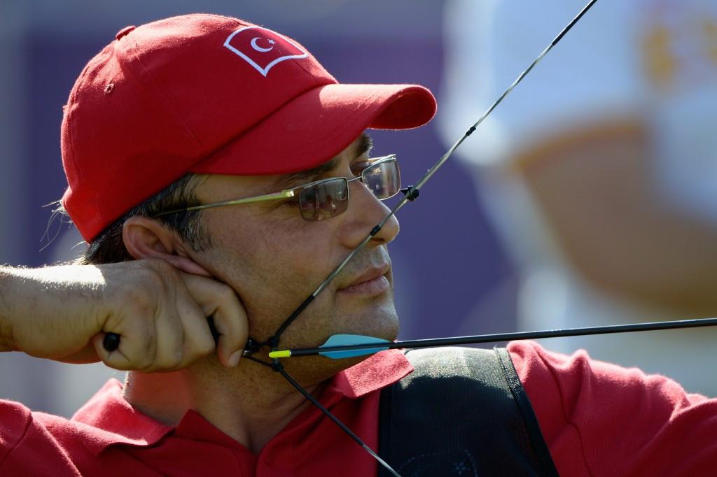 Dogan Hanci helped Turkey to success in the men's compound team event