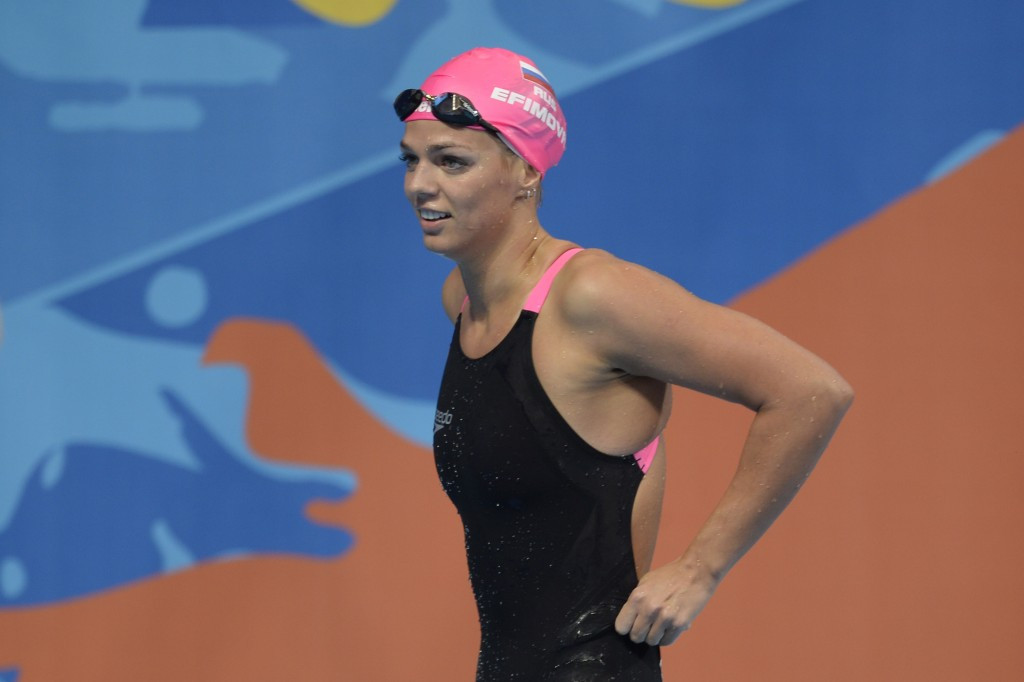 Swimmer Yuliya Efimova is another high profile name to have failed for meldonium
