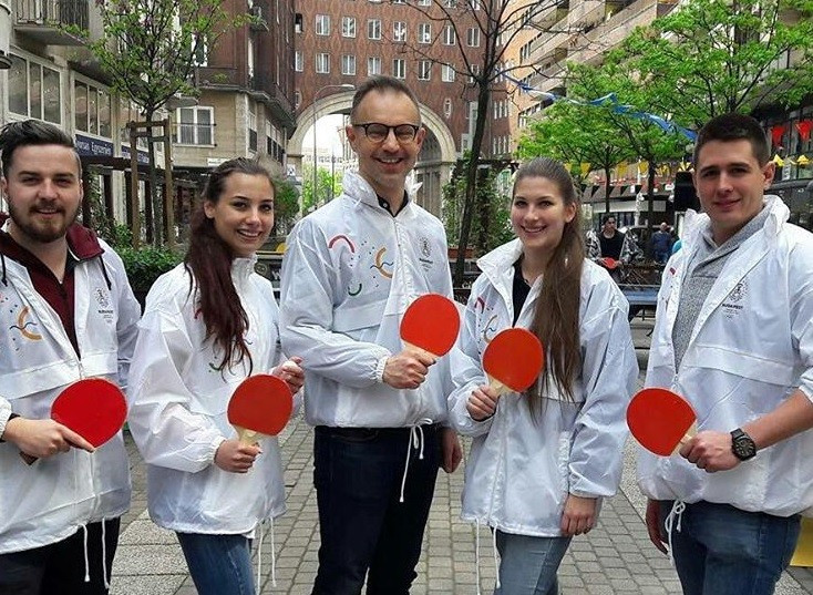 A host of sports demonstration events were held across the city to mark the Budapest 2024 official launch