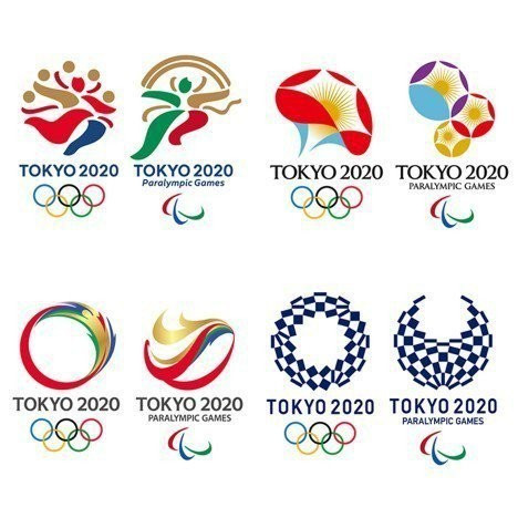 The winning design was chosen ahead of more colourful logos by the Tokyo 2020 Emblems Selection Committee