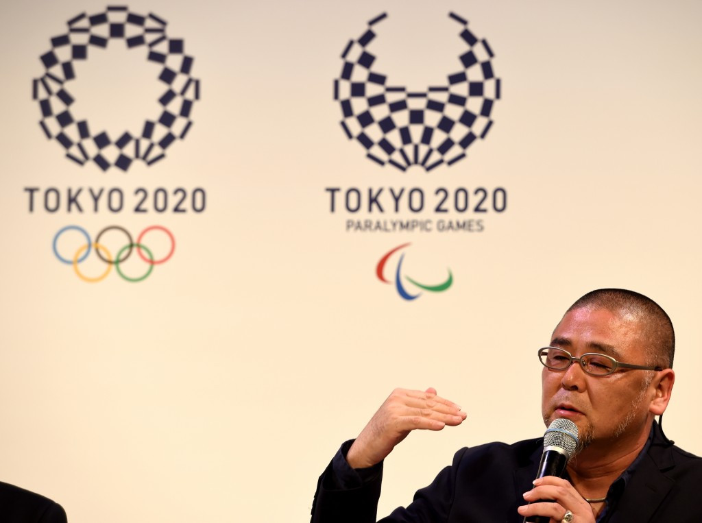 The winning logos, designed by  Asao Tokolo, was unveiled at a ceremony in Tokyo today ©Getty Images