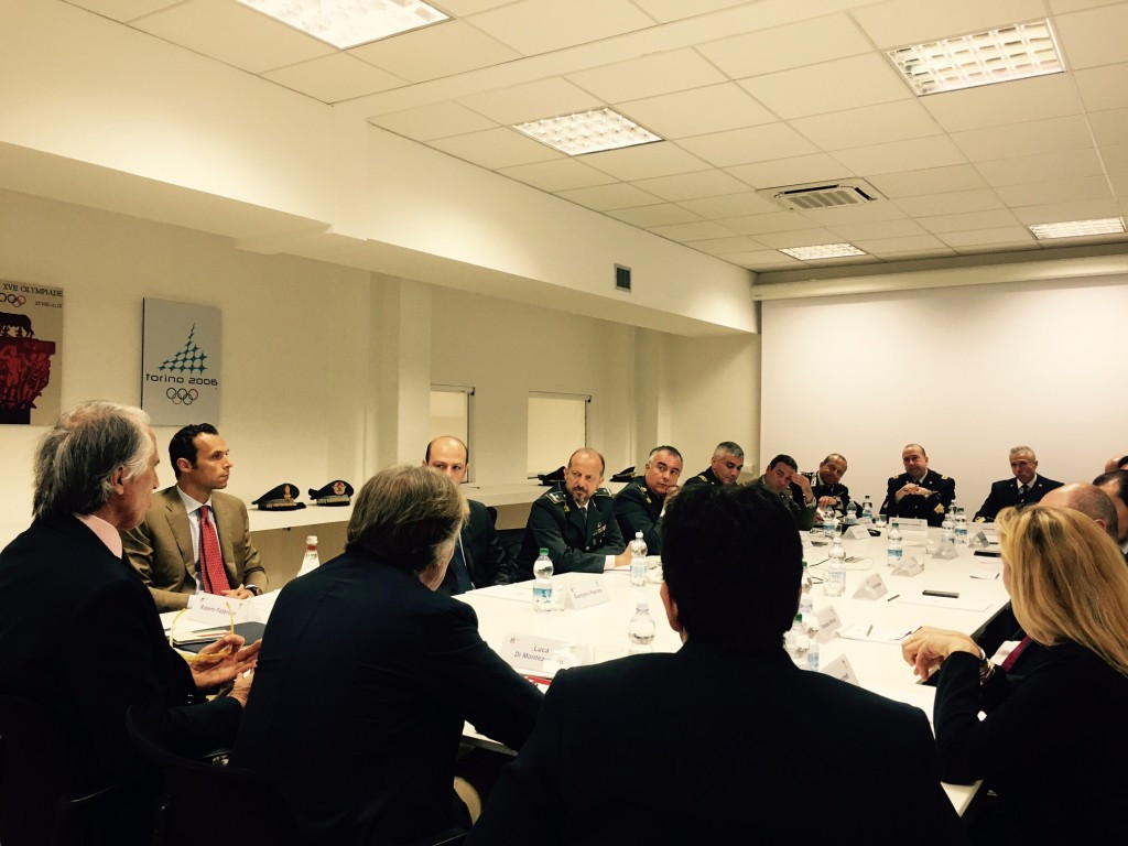Rome 2024 officials met with their military counterparts at their headquarters today