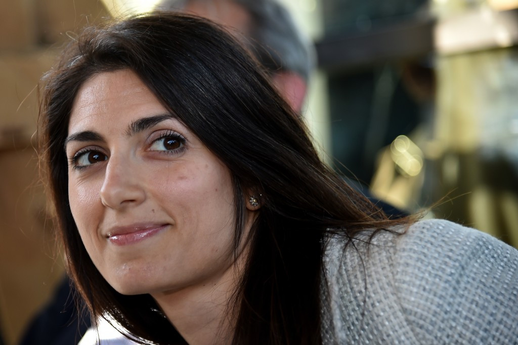 Virginia Raggi has reaffirmed her opposition to Rome's 2024 Olympic and Paralympic bid ©Getty Images