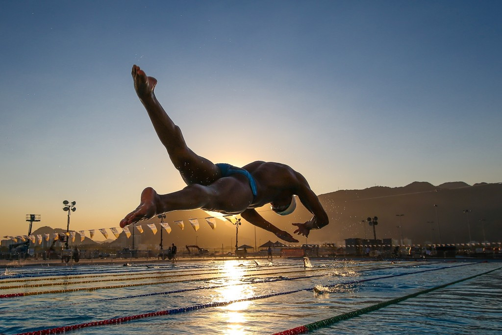 The warm-up pool will be covered and air conditioned for the Games which is believed will reduce any issues