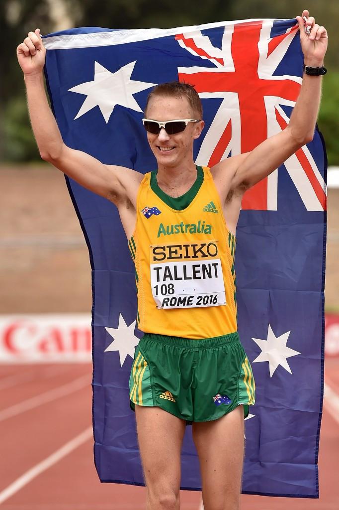 Jared Tallent was second to Alex Schwazer in Rome