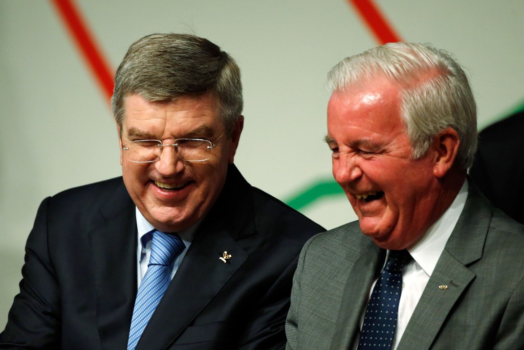 Thomas Bach (left) and Sir Craig Reedie are each urged to convene the retesting process ©Getty Images