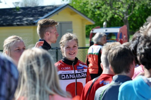 Denmark's world champion Ida Bobach was among those who attended the opening of the new IOF headquarters in Karlstad ©IOF
