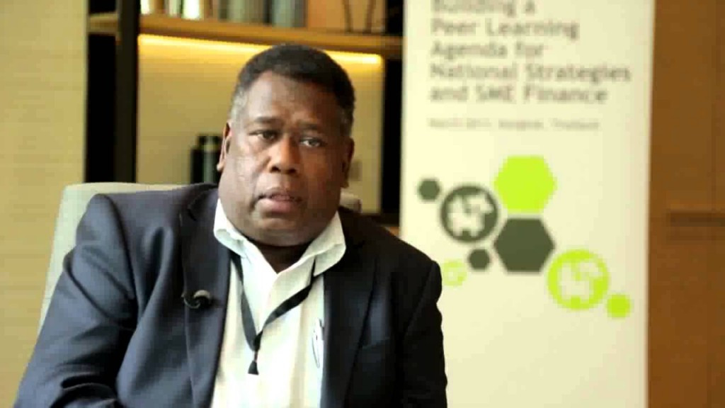 Central Bank of the Solomon Islands Governor Denton Rarawa says the Solomon Islands need to begin work immediately ©Youtube