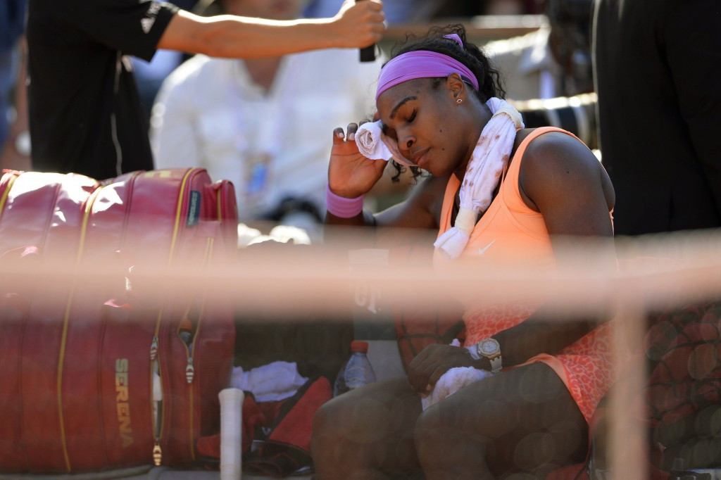 Serena Williams overcomes illness to move into French Open final