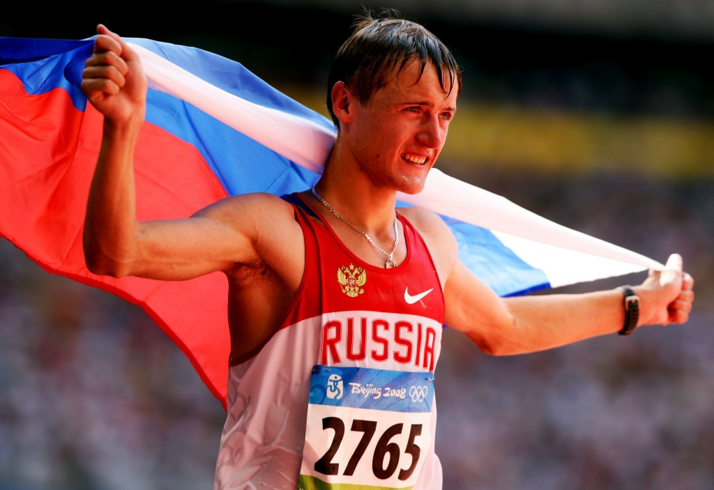 Racewalker Valeriy Borchin was among six Russian gold medal winners in athletics events at Beijing 2008 - but has already since been implicated in doping ©Getty Images