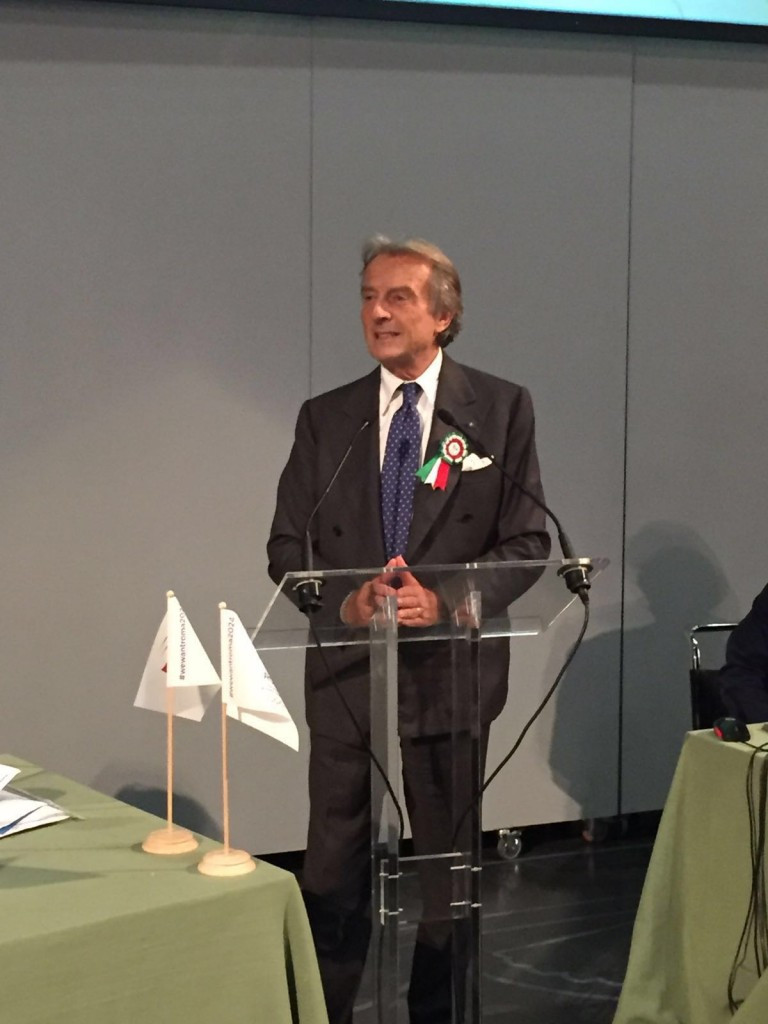 Rome 2024 President Luca di Montezemolo was among those in attendance at the educational event,