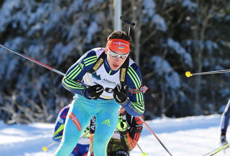 Ukraine's Artem Tyshchenko is one of the three athletes who have had their results expunged by the International Biathlon Union following positives tests for meldonium ©Getty Images