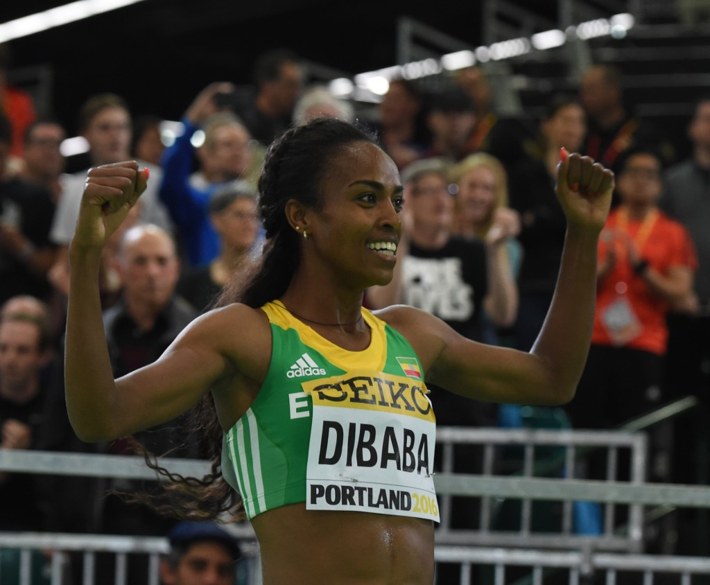 Genzebe Dibaba is a member of Jama Aden's training group