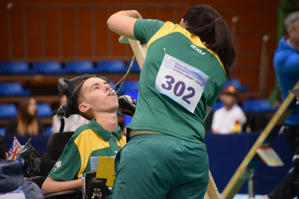 Daniel Michel, seen here competing at the BisFed World Championships, is set to become the first Australian to compete in boccia at the Paralympic Games in Rio de Janeiro since Sydney 2000 ©BisFed
